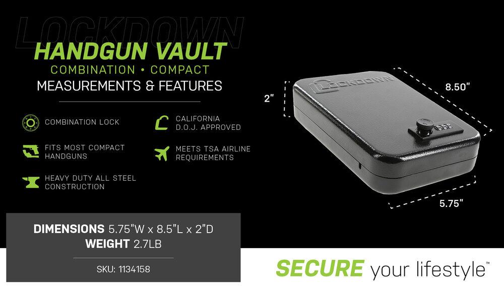 Combination Handgun Vault - Compact