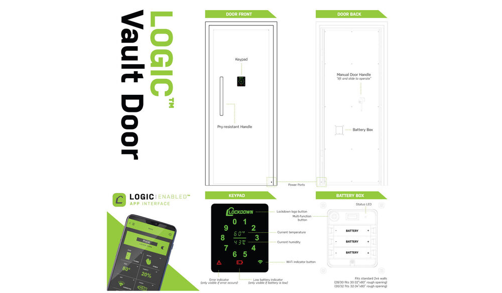 Logic Vault Door - 28/30 in. Outswing